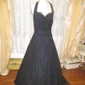 Vintage Halter Western Victorian Prom Party Dress